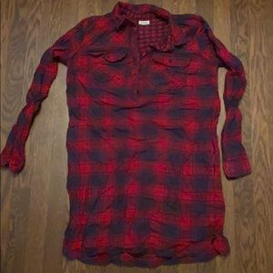 J Crew Flannel, Tunic Style Dress